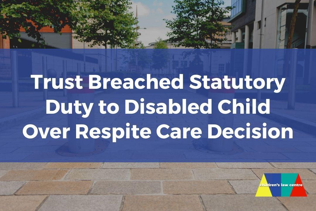 Trust in breach of statutory duty